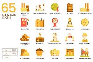 65 Oil & Gas Icons | Caramel