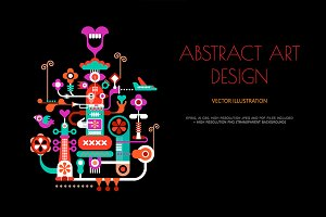 Abstract Art Design vector poster