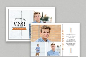Senior Boy Graduation Announcement