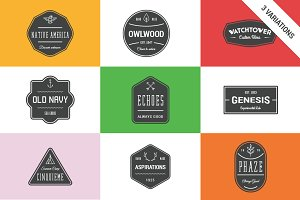 Simple logo badges