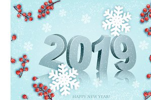 Happy New Year background. Vector