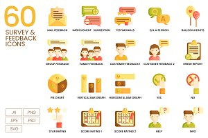 60 Survey & Feedback Icons | Caramel