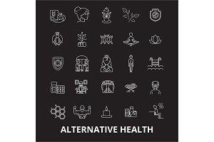 Alternative health editable line