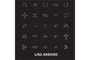 Arrows line editable line icons