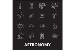 Astronomy editable line icons vector