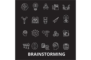 Brainstorm editable line icons
