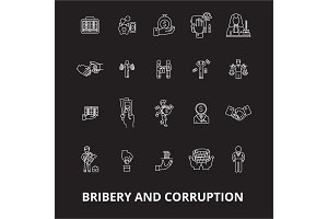 Bribery and corruption editable line