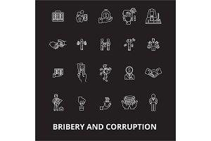 Bribery and corruption editable line