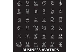 Business avatars editable line icons