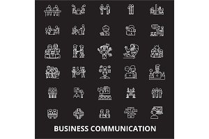 Business communication editable line