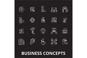 Business concepts editable line