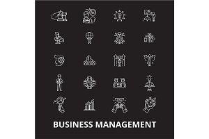 Business management editable line