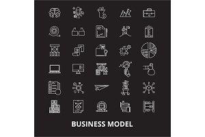 Business model editable line icons
