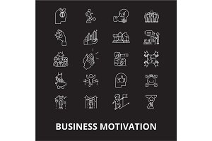 Business motivation editable line