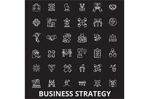 Business strategy editable line