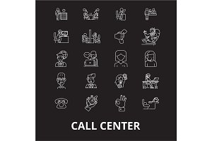 Call center editable line icons