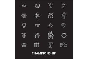 Championship editable line icons