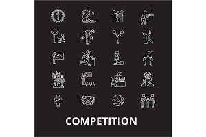 Competition editable line icons