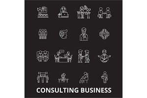 Consulting business editable line