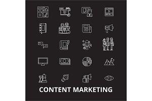 Content marketing editable line