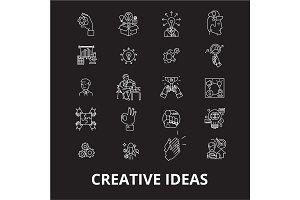Creative ideas editable line icons