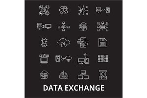 Data exchange editable line icons