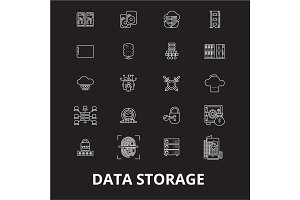 Data storage editable line icons
