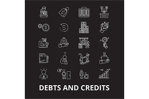 Debts and credits editable line