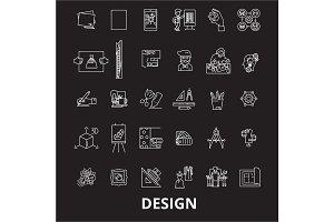 Design editable line icons vector