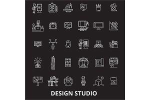 Design studio editable line icons