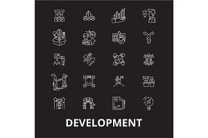 Development editable line icons