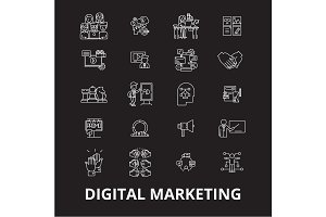 Digital marketing editable line
