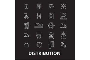 Distribution editable line icons