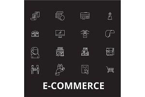 E-commerce editable line icons