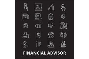 Financial advisor editable line