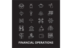 Financial operations editable line