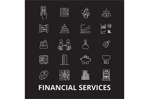 Financial services editable line