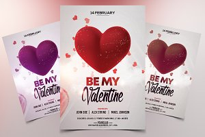 Be My Valentine - PSD Flyer Template