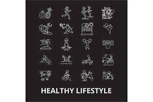 Healthy lifestyle editable line
