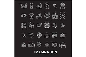 Imagination editable line icons