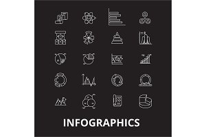 Infographics editable line icons