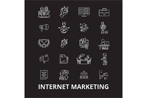 Internet marketing editable line