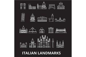 Italian landmakrs editable line