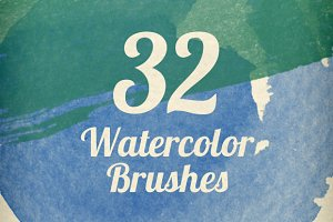 Watercolor Strokes Brush Pack