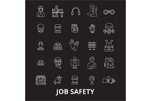 Job safety editable line icons