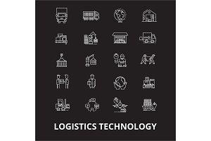 Logistics technology editable line