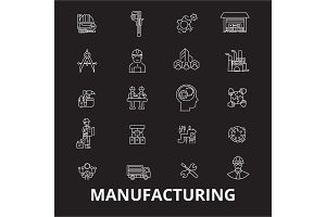 Manufacturing editable line icons