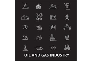Oil and gas industry editable line