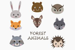 Forest Animal Faces