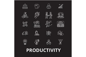 Productivity editable line icons
